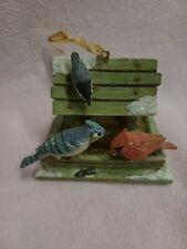 Marjolein Bastin Hallmark Nature's Sketchbook Birdhouse Feeder W/ Birds Ornament