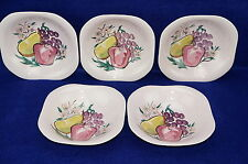 Red Wing Fruit (5) CEREAL BOWLS 6 5/8""