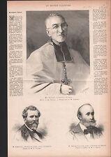 CHATIGNY  PEINTRE LYON MAXIME LALANNE MRG RICARD  1886 GRAVURE ANTIQUE PRINT