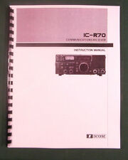 Icom IC-R70 Instruction Manual - Premium Card Stock Covers & 28 LB Paper!