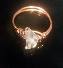 Handmade Crystal Solid Copper Ring, Any Size
