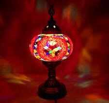 Super LUXUS Stehlampe - Tischlampe MOSAIKLAMPE 100% Handgearbeitet ca 36cm ROT
