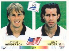 Panini - FIFA World Cup France 1998 - C.Henderson / R.Wegerle - U.S.A. - # 414