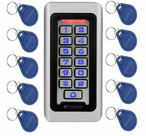 Door Access Control System Waterproof Metal Keypad Proximity Card Entry Device