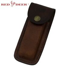 Carry Folding Knife Genuine Leather Pouch Sheath Flashlight / Multi-tool