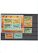 Uganda 1977 Fauna WWF  Mi. # 166-170 MNH & Bl#8, fauna of Africa stamps, post