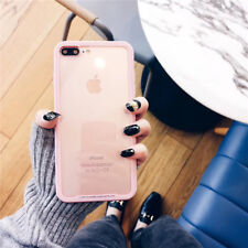 For iPhone X 8 6s 7 Plus Luxury Hybrid Soft Bumper 9H+ Tempered Glass Clear Case
