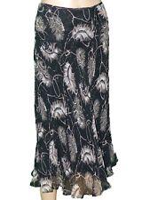 Womens Skirt Black 100% Silk Chiffon TESS Size 10 EUC