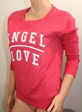 VICTORIA'S SECRET Women's Angel Crew Sweat Shirt Color Red Small NWT L-Sleeve