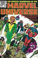 Official Handbook Of The Marvel Universe Comic Issue 13 Copper Age 1984