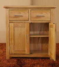 Oak Sideboard Rustic Solid Small Storage Cupboard 2 Drawer Door Cupboard