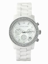 NEW MICHAEL KORS LADIES WHITE CERAMICA CRYSTALS WATCH MK5188 ✔2 YEARS WARRANTY