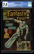 Fantastic Four #50 CGC VF- 7.5 Off White to White 3rd Silver Surfer!