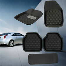 5pc Universal Car Floor Mats FloorLiner Front&Rear Carpet All Weather Mat Black
