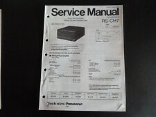 Original Service Manual Technics Cassette Deck RS - CH 7