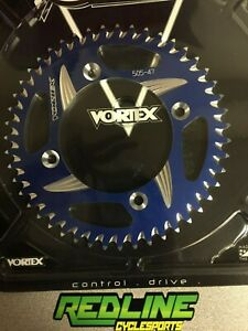 2002-2019 Yamaha YZ 85 rear Vortex 47 tooth blue aluminum sprocket
