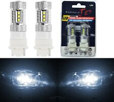 LED Light 80W 3156 White 5000K Two Bulbs Back Up Reverse Replacement Upgrade OE