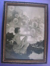 VINTAGE MAXFIELD PARRISH ORIGINAL PRINT..' AIR CASTLES '
