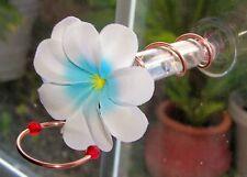 HANDCRAFTED Copper Window Mount Hummingbird Feeder Realistic Plumeria Flower