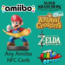 Amiibo Card for Super Smash Brothers, Animal Crossing, Breath of the Wild