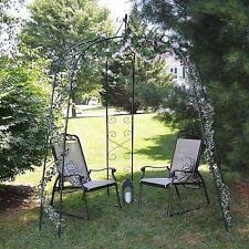 Garden Arbor Wedding Arch Trellis Patio Outdoor Archway Decor Yard Metal Gazebo