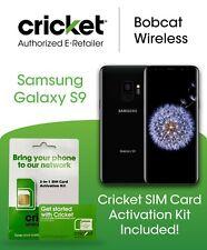 Cricket Wireless Samsung Galaxy S9 Black Phone Bundle + Free Cricket SIM Card