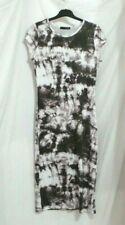 Dress tie dye batik black white stretchy Size 12 BNWOT