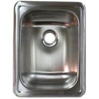 "Lasalle Bristol 13RSM1713LL RV Trailer 17"" Single Basin Sink Stainless Steel"