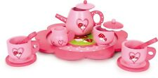 Kids childrens tea playset toy tea party teapot cups plates wooden kitchen