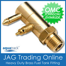 BRASS FUEL TANK END FITTING for JOHNSON EVINRUDE OMC - Boat/Outboard Fuel Line