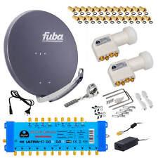 Komplettanlage SAT Anlage Fuba DAA850A Anthrazit 9/12 Multiswitch LNB HD 3D 4K8K