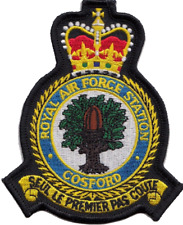 RAF COSFORD Royal Air Force Mod Crest Embroidered Patch