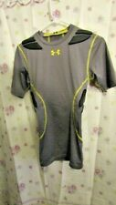 Under Armour Compression Padded Football Mens Small Shirt Motocross gray