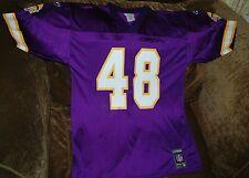 Najee Mustafaa jersey! Minnesota Vikings MENS medium NEW! NFL throwback! Purple