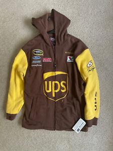 David Ragan # 6 UPS Racing Chase Authentics Zip SweatJacket with Hood Size XL