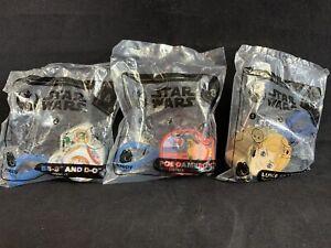 McDonalds Star Wars Happy Meal Toys Lot of 3 2019 KG BB-8 Poe Luke Skywalker