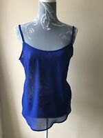 Per Una Womens Vest Top Size 12 Royal Blue Sleeveless Polyester Adjustable Strap