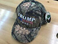 TRUMP 2020 AMERICAN FLAG MOSSY OAK CAMO EMBROIDERED BASEBALL CAP
