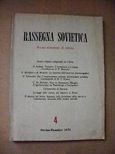 rivista RASSEGNA SOVIETICA n.4-1972/la funzione delll'operatore cinematografico