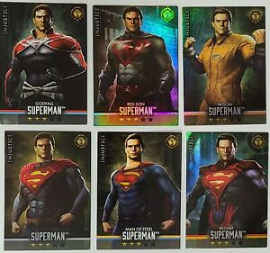 Injustice Series 3, lot of 6 SUPERMAN Cards, foil and non-foil, GODFALL included
