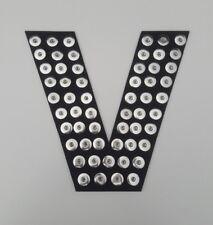 "BLACK Letter V 10 1/2"" x 10 1/2"" Snap Holder  18mm 20mm Snap Organizer Popper"