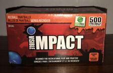 Visible Impact Recball Paintballs .68 Cal 500 Orange Fill Ecofill-New & Sealed