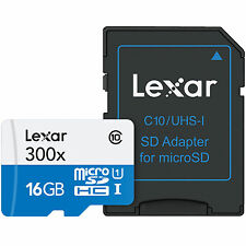 US Seller High-Performance Lexar 16GB 16 G GB 45MB/s 300x Micro SD SDHC MicroSD