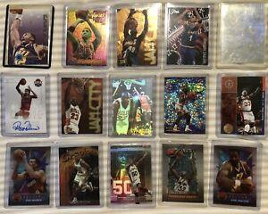 Mixed NBA 15 Card Lot MICHAEL JORDAN SHAQ Pippen AUTO Hologram Stars LOT✨