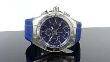 TechnoMarine 111004 Chronograph Cruise Original Blue Silicone Strap Watch $495
