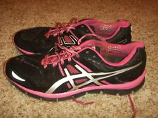 ASICS GEL BLUR33 Running Shoe Black Pink Womens Size 10