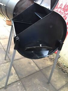 Professional Small Oil Drum BBQ Jamaican Jerk Pan with removable legs
