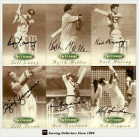 1996 Futera Cricket Heritage Collection Signature Card Full Collection (60)-RARE