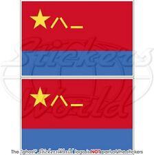 CHINA Luftwaffe Flagge CHINESISCHE Fahne PLAAF 100mm Vinyl Aufkleber, Sticker x2