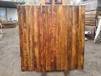 Fence panels 6x6 ft close horizontal boarded waney laps